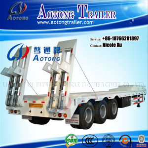 3-5 Axles 50-80 Tons Flat Lowbed Semi Trailer for Sale (LAT9404TDP) pictures & photos