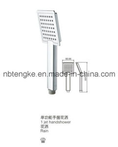 New Style Chrome Finished (TK3021) Square ABS 3 Function Shower Head