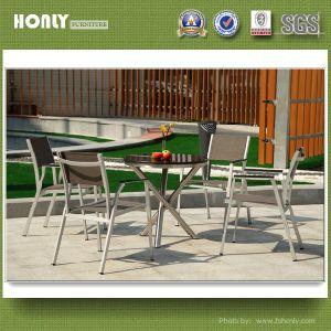 Modern High Stainless Steel Table Set Garden Marble Stainless Steel Table Set