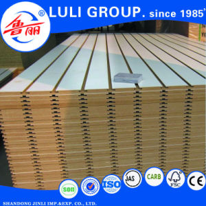 Laminated Melamine Tongue and Groove MDF Slotted MDF Board pictures & photos