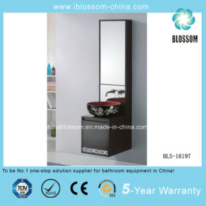 Art Ceramic Basin PVC Wall Mounted Bathroom Cabinet, Vanity (BLS-16197) pictures & photos