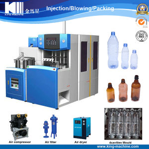 Semi-Auto 4 Cavities Pet Bottle Blowing Molding Machine pictures & photos
