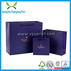 Custom Full Color Laminated Shopping Paper Bag with Logo Print pictures & photos