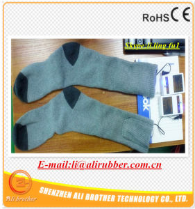 Electric Li-on Battery Powered Heated Socks pictures & photos