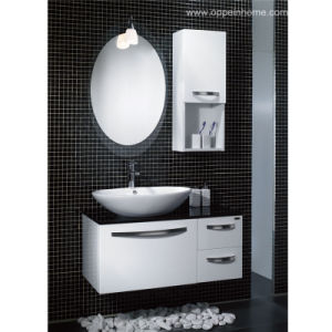 Lacquer White Bathroom Cabinet (OP-W1102)
