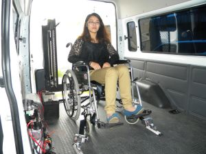 Wheelchair Lock Devise & Locking Restraint System for Electric Manual Wheelchair with Safety Belts pictures & photos