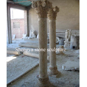 Beige Stone Sculpture Marble Column for Home Decoration (SY-C019) pictures & photos