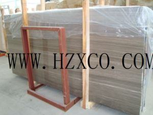 Wood Coffee Marble Slabs/Tiles, Wooden Marble pictures & photos