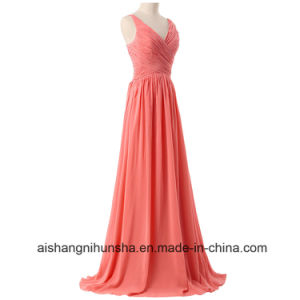 Women Sleeveless Backless Sexy Evening Party Bridesmaid Dress pictures & photos