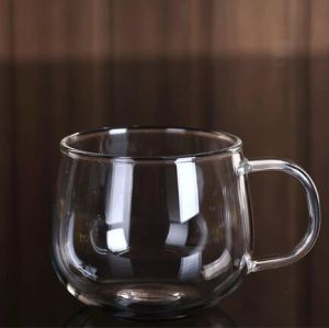 Hand Made Glass Tea Cup with Handle Breakfast Gift Cup Coffee Mug pictures & photos