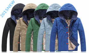 New Products Listed Cotton Hooded Crime Jacket for Men (SY0002) pictures & photos