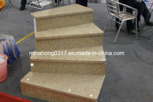 White Black Grey Yellow Granite Step Stairs pictures & photos