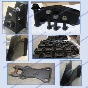 Germany Type Mechanical Suspension Four Axle Overlung / Underslung with Leaf Spring pictures & photos