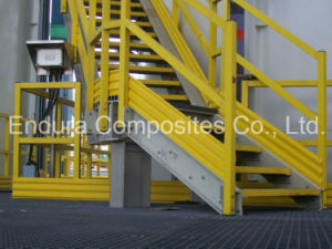 FRP Steps/ Stair Tread with Nosing/ FRP/GRP Nosing/ Fiberglass Profiles pictures & photos