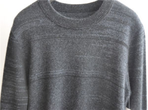 100%Cashmere Long Sleeve Round Neck Knitting Sweater for Men pictures & photos