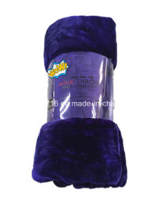 High Quality Mink Blanket Sr-B170224-7 100% Polyester Solid Mink Blanket Solid Raschel Blanket pictures & photos