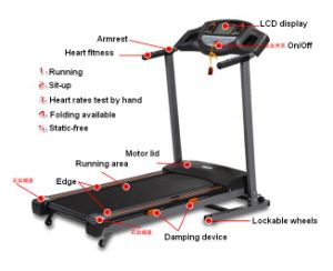 Fitness Tr-1000d Folding Treadmill