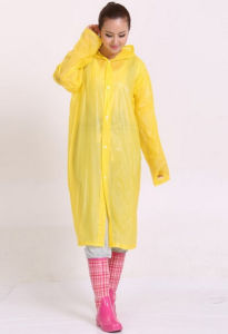 Disposable PVC Thickening Raincoat with Hood