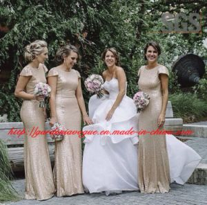 Sexy Cap Sleeve Wedding Party Dress SGS Cheap Bridesmaid Dress (GDNY510)