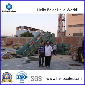 Semi Automatic Hydraulic Waste Paper Balers with Conveyor pictures & photos