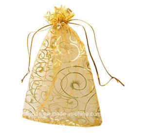 Champagne Organza Drawstring Pouches Jewelry Party Wedding Favor Gift Bags pictures & photos