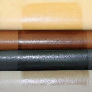 Exported Quality Environment Friendly Textiles PU Artificial Leather for Shoes pictures & photos