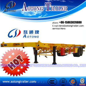 2 or 3 Axles Container Flatbed Semi Trailer (LAT9380TJZG) pictures & photos