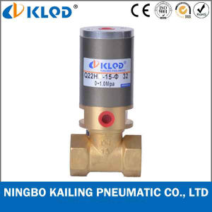 Q22HD-25 2/2 Way Piston Type Brass Material Pneumatic Flow Control Valve pictures & photos