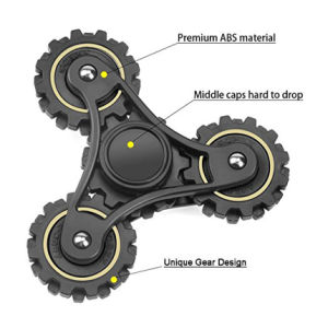 Ceramic Bearing Fidget Hand Finger Tri Spinner 4 Gears Fidget Spinner pictures & photos