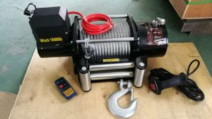 up-Down /Sliding Ring Gear/Synthetic Rope /Wire Rope Heavy Duty Electronics Winch (DH15000K) pictures & photos