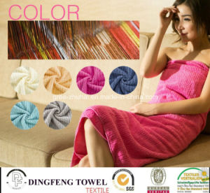 100% Cotton Color Strip Soft Bath Towel Df-3670 pictures & photos
