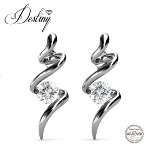 Destiny Jewellery Crystal From Swarovski 925 Sliver Spiral Stud Earrings