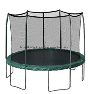 12FT Green Ground Trampoline with 6 Legs and Safety Enclosure Net pictures & photos