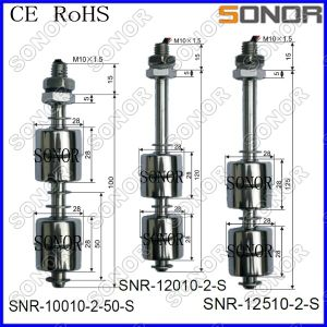 Stainless Float Switch Vertical Type Two Float Type