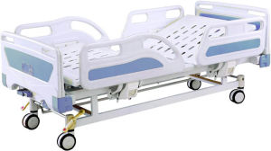 Hospital Furniture Full-Fowler 2 Cranks Manual Hospital Patient Bed pictures & photos