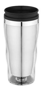 Inner Stainless Steel Outer Plastic with Lip Travel Mug