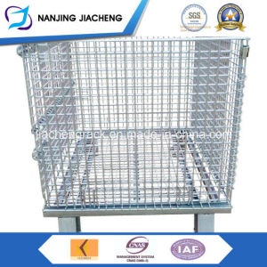Welded Foldable Stacking Steel Mesh Wire Storage Cage pictures & photos