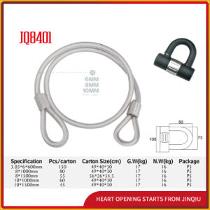 Jq8401 High Quality and Safety Bicycle Lock Motorcycle Lock Round Strand Steel Cable Lock pictures & photos