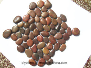 Red Natural Pebble Stone Tile pictures & photos