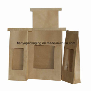 Brown Kraft Bag for Coffee Beans with Window pictures & photos