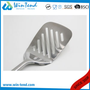 Wholesale Stainless Steel Kitchen Slotted Scoop with Hook pictures & photos