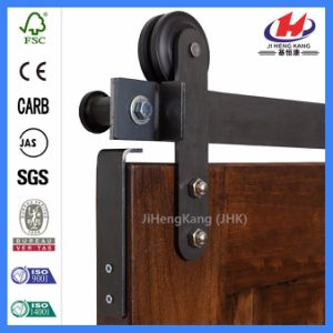 Shopping Mall Best Quality Slab Wood Barn Door (JHK-SK08) pictures & photos