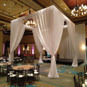 Wedding Portable Aluminum Pipe and Drapes Stage Backdrop pictures & photos