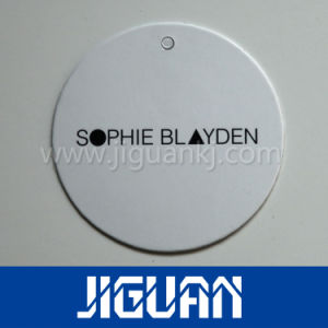 New Style Color Thick Plastic Hang Tag Printing with Hole pictures & photos