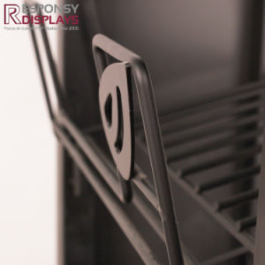 Logo Sign Board Wire Shelf Potato Chips Metal Display Rack pictures & photos