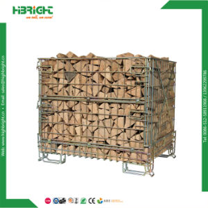 Heavy Duty Steel Wire Mesh Stackable Storage Cage pictures & photos