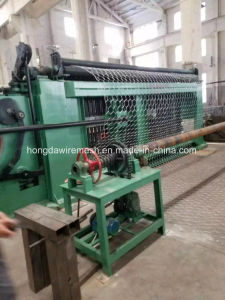 Full Automatic 100X120mm Hexagonal Gabion Woven Wire Mesh Knitting Machine pictures & photos