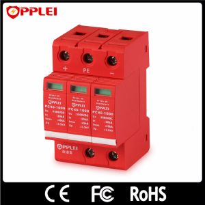 Solar Photovoltaic System Lightning Protection 1000VDC Surge Protector pictures & photos