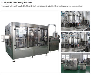 Automatic 3-in-1 Carbonated Beverage Filling Machine pictures & photos