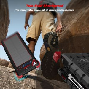 16000mAh Rugged Power Bank with Flashlight IP67 Waterproof Outxe pictures & photos
